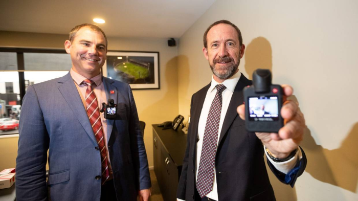 NZ Justice Minister body camera