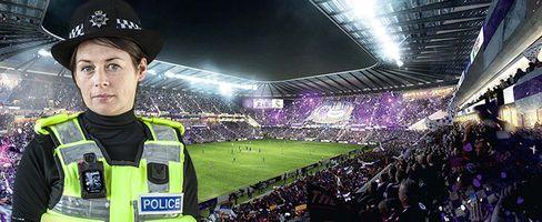 Police in stadium